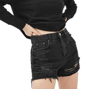 Mom Authentic Rip High Waisted Short